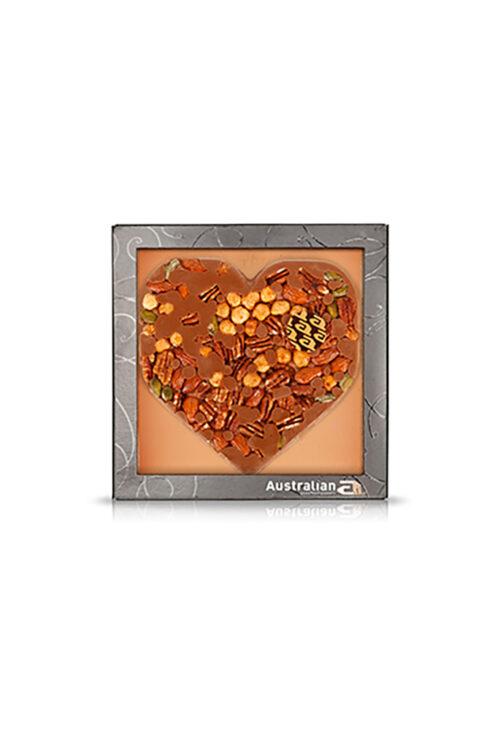 Australian Chocoladehart Melk Nuts Fleurtjedag Loket
