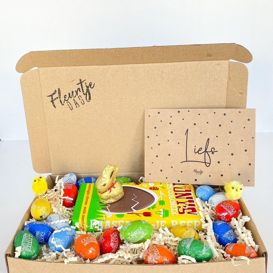 fleurtjedag pasen waarderingspakket brievenbuscadeau cadeau collega thuiswerkers