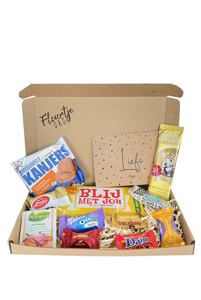 Bedankt tony chocolade brievenbuspakket cadeau collega fleurtjedag