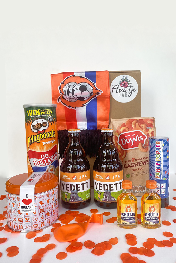 Ek borrelpakket oranje Hup Holland